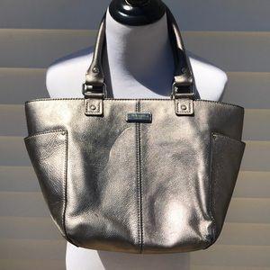 Kate Spade ♠️ silver leather shoulder bag